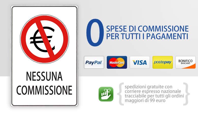 Zero Spese di Commissione per Tutti i Pagamenti