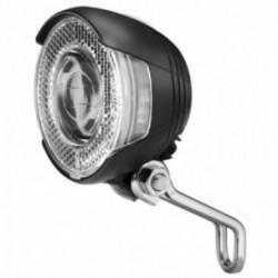 Busch & Müller, Impianto illuminazione, faretto dinamo anteriore, LUMOTEC Lyt B N plus, 20 Lux, colore: nero, illuminazione ravv