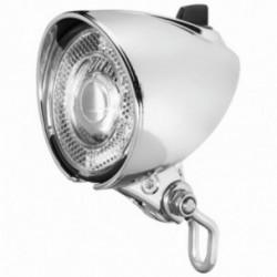 Busch & Müller, Impianto illuminazione, faretto anteriore dinamo, LUMOTEC Classic N plus, 25 Lux, colore: cromato, illuminazione