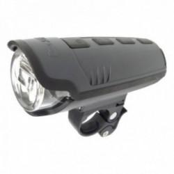 Busch & Müller, Impianto illuminazione, Faretto anteriore LED con batteria ricaricabile, IXON Pure B, 15 Lux, colore: nero, batt