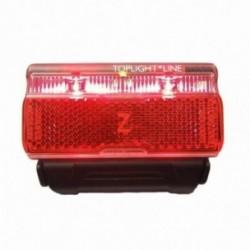 Busch & Müller, Impianto illuminazione,fanalino posteriore a diodi, TOPLIGHT Line permanent 80 mm, 2 LED ad alta prestazione, te