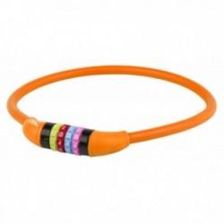 M-WAVE, Lucchetti, lucchetto con cavo in acciaio, DS 12.6,5 S, 12 x 650mm, arancio