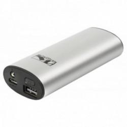 M-WAVE, Caricatore USB portatile Powerbank, con LED di posizione, capacità: 5200mAh, in entrata: 5V/1A, in uscita: 5V/1A, misure