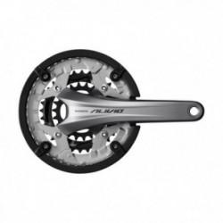 Guarnitura Shimano ALIVIO FC-T4060 9 velocità 175mm Hollowtech con paracatena argento