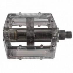Pedali BMX M-WAVE 95x104mm in policarbonato nero