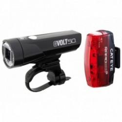 Luce anteriore e posteriore Cateye GVolt 50 + Rapid Micro G