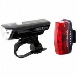 Cat Eye, Impianto illuminazione, GVolt 25 + Rapid Micro G, Set luci anteriore + posteriore, 25+ Lux, durata: 3-10 h (faretto) e