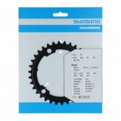 Corona Shimano 105 FC-R7000 2x11 velocità 50-34 denti giro bulloni 110mm nero
