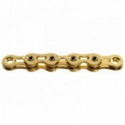 Catena KMC K1SL Narrow Gold 1 velocità 100 maglie oro
