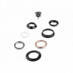 """M-WAVE, Serie sterzo, Carousel HS Mix, semi-integrata, 1 1/8""""-1,5"""", colore nero, acciaio, diametro interno anello di chiusura su"""