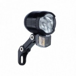 Büchel, Impianto illuminazione, faretto anteriore Shiny 80, 80 Lux, con supporto in acciaio inox, con interruttore, luce di posi