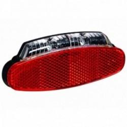 Büchel, Impianto illuminazione, Fanalino per portapacchi a LED Broadway Stoptech E-Bike 6-48V, con Z-Reflector, allaccio rapido