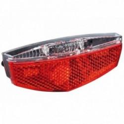 Büchel, Impianto illuminazione, Tivoli Stoptech Dynamo, fanalino da portapacchi a LED, con catadiottro a Z, allaccio rapido con
