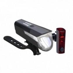 Büchel, Impianto illuminazione, Set luci anteriore + posteriore, BLC 820, regolabile: 80/40/15 Lux, LED, durata fino a ca. 710 m