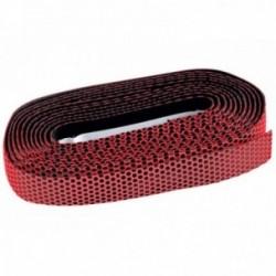 Nastro manubrio Barbieri PNK con disegno in silicone nero/rosso