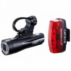 Cat Eye, Impianto illuminazione, GVolt 70 + Rapid Micro G, Lichtset vorne + hinten, 70+ Lux, durata: 2-15 h (Scheinwerfer) und 5