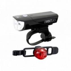 Luce anteriore e posteriore Cateye GVolt 20 ricaricabile + Loop 2G