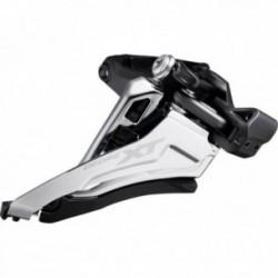 Deragliatore anteriore Shimano DEORE XT FD-M8100 2x12 velocità SideSwing Front Pull nero