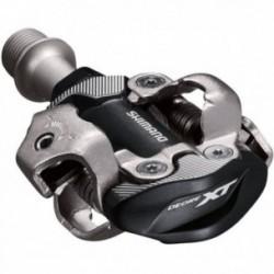 Shimano, Pedali, PD-M8100, XT, MTB, attacco bilaterale SPD, senza catadiottro, alluminio anodizzato, tacchette: SM-SH51 (optiona