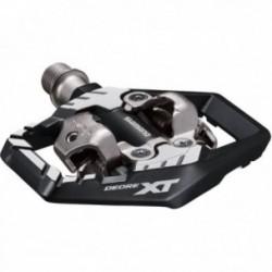 Pedali MTB Shimano DEORE XT PD-M8120 doppio aggancio SPD nero