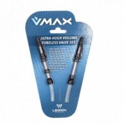 LEGION Valvole Tubeless (coppia) V-MAX per Cerchi 21,5-29,5mm alluminio