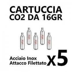 Barbieri Pompe cartuccia CO2 da 16g 5 pezzo