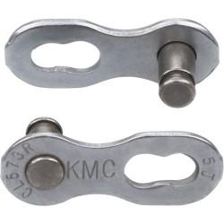 "KMC, Accessori per catene, MissingLink 7/8R EPT Silver, per 7/8-vel., lunghezza perni 7,1mm, 1/2""x3/32"", tecnologia anti-ruggine"