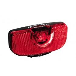 Busch & Müller, Impianto illuminazione, fanalino posteriore a diodi, 4D-TOPLIGHT permanent, 4 LED, per il montaggio al portapacc