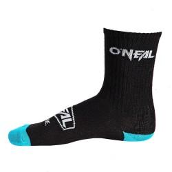 O'Neal, Calze, Crew Sock Icon, colore: nero/blu, misura: 39-42