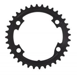 Shimano, Corona, 105, FC-R7000, 39D-MW, 4-bracci ( 2x11-vel. ), per 53-39D, giro bulloni 110 mm, colore nero, conf. originale, (