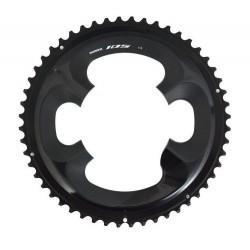 Shimano, Corona, 105, FC-R7000, 52D-MT, 4-bracci (2x11-vel.), per 52-36D, giro bulloni 110mm, colore nero, conf. originale, (Hst