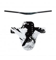 KIT AZONIC Manubrio Flow Flat 35mm + Parafango anteriore Splatter Shocker