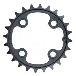 Corona 9 velocità Truvativ 24 d 64mm aluminium nero