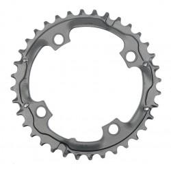 Corona 9 velocità Truvativ 36 d 104mm aluminium grigio