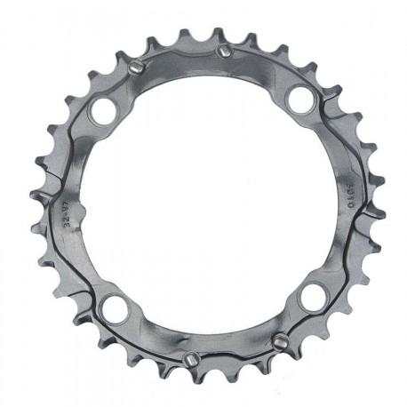 Corona 9 velocità Truvativ 32 d 104mm aluminium grigio