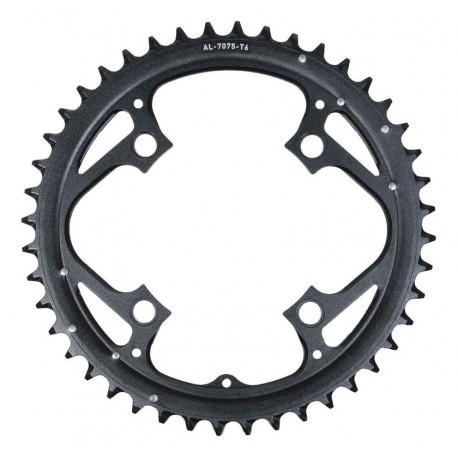 Corona 9 velocità Truvativ 44 denti giro bulloni 104mm alluminio nero