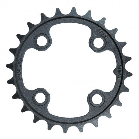 Corona 10 velocità Truvativ 24 d 64mm aluminium nero