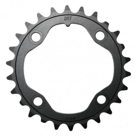 Corona 10 velocità Truvativ 26T 2x10 80mm black