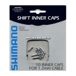 Shimano Terminali per cavi cambio 1,1 / 1,2 mm 100 pezzi