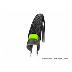 """Pneumatico Rigido Schwalbe Marathon 28"""" 25-622 Reflex Green Guard 28 x 1,00 """""""