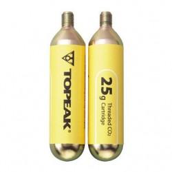 Topeak 25g Threaded CO2 Cartridge (2 pcs.)