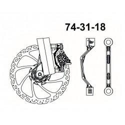 Adattatore Hayes anteriore 180mm postmount