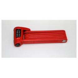 Lucchetto semisnodato Abus Bordo Combo Lite 6150 rosso 85cm Security Level 6