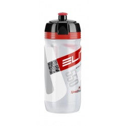 Borraccia Elite Corsa 550ml clear/red