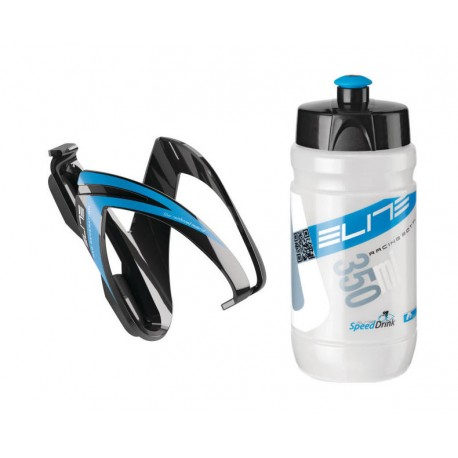 Borraccia Elite Kid's Kit CEO +Cage 350ml blue