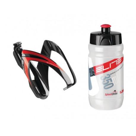 Borraccia Elite Kid's Kit CEO +Cage 350ml red