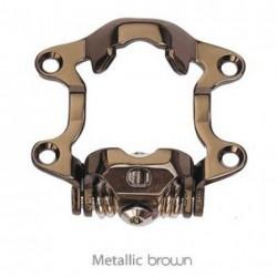EXUSTAR pedali sgancio rapido marrone metallizato