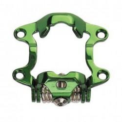 EXUSTAR pedali sgancio rapido verde