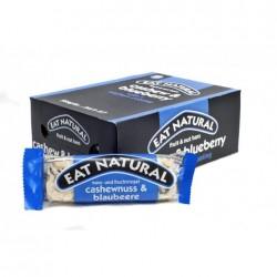 EAT NATURAL barrette alla frutta anacardio & mirtillo con copertura allo joghurt conf. di 12 pezzi da 45g.