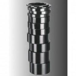 Ergotec distanziali 1 1/8 10mm nero (10 pezzi)